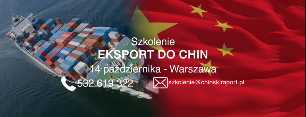 eksport chiny październik - szkolenie na temat eksportu