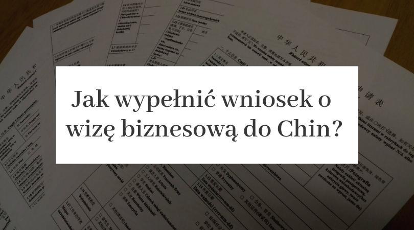 wiza biznesowa do Chin