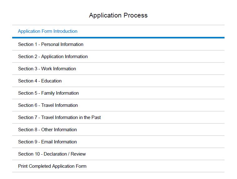 aplikacja online o wizę do Chin