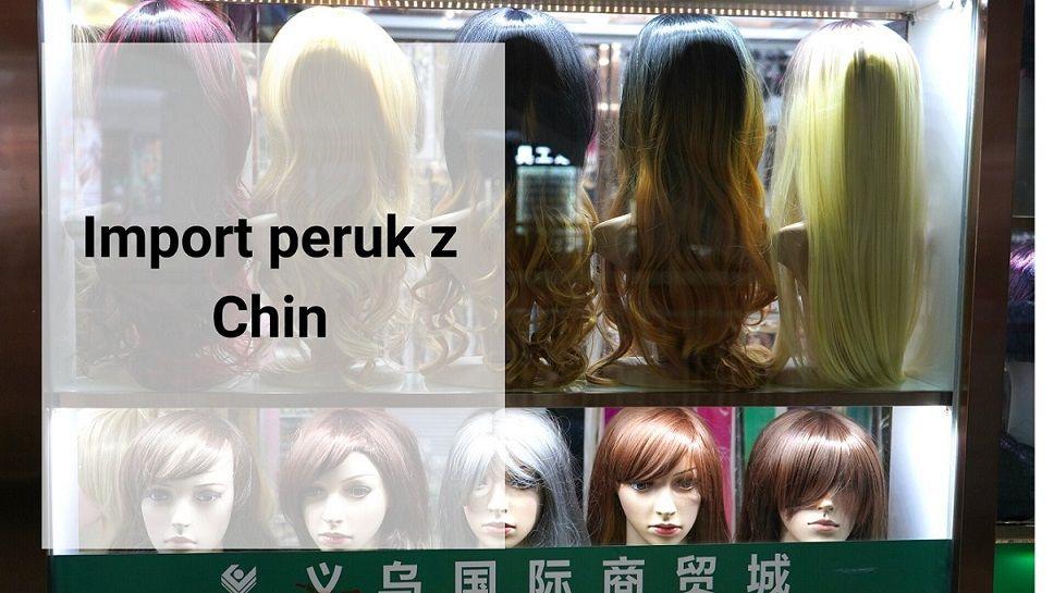 Import peruk z Chin
