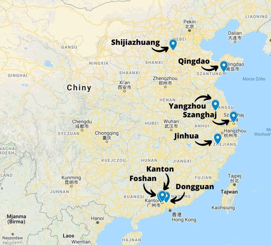 Zagłębia produkcyjne upominków w Chinach