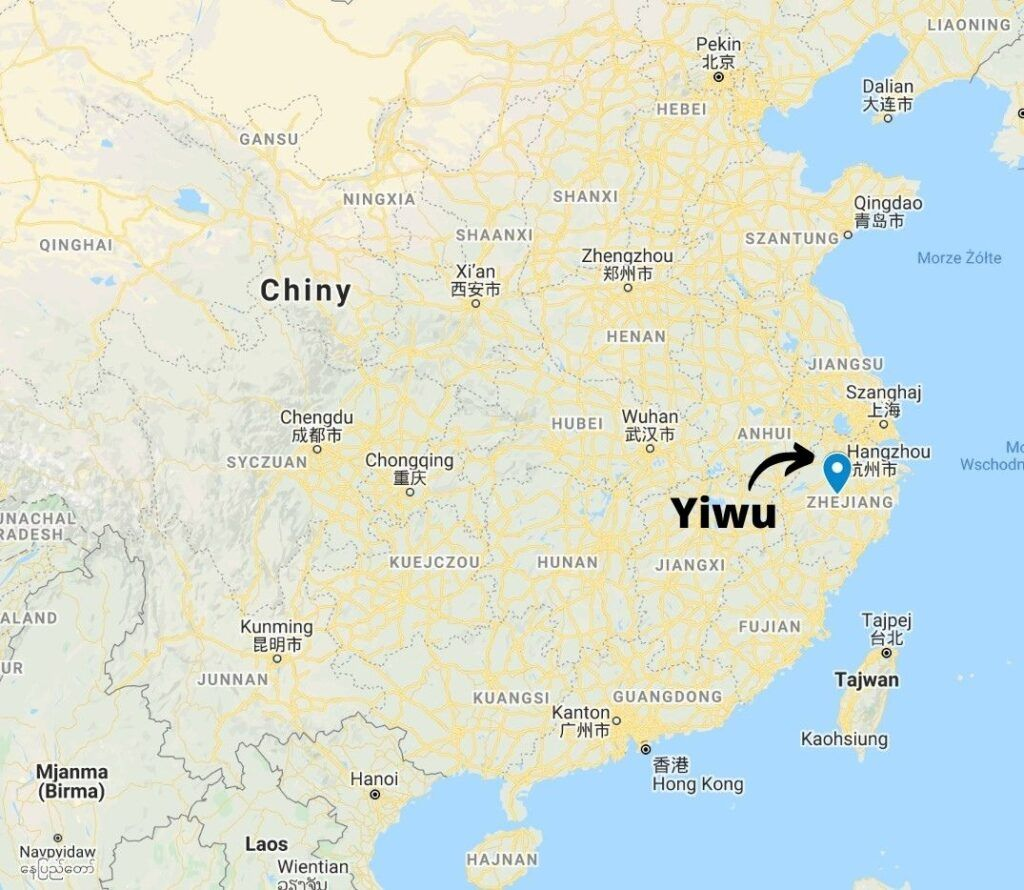Import upominków - Yiwu